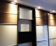Sliding doors with TV